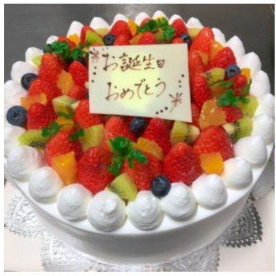 【予約制】18cm 生クリームデコレーションケーキ(フルーツアップ)
