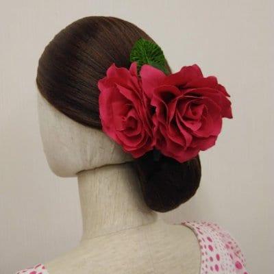 花髪飾り フローレス フラメンコ花飾り スパニッシュ風 髪飾り コサージ...