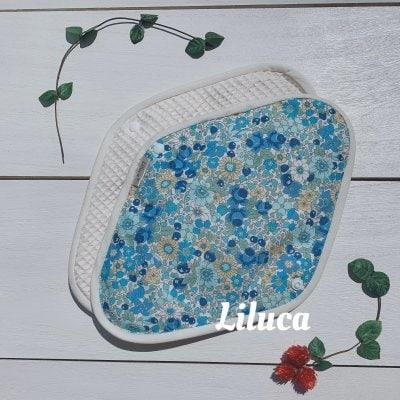 Lサイズ Happy Blue Flower【体にも環境にもやさしい】ハッピー布ナプ...