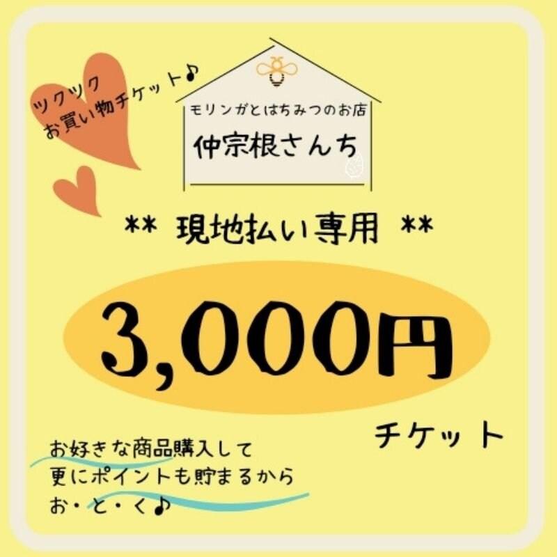 【現地払い専用】お買い物3000円チケット 沖縄県産本部町のはちみつ/仲宗根さんちのイメージその1