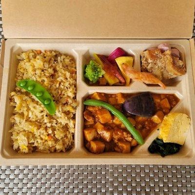 7/31ドラべんメニュー 10種類の野菜の中華弁当 850円