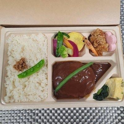 7/31ドラべんメニュー 10種類の野菜のハンバーグ弁当 850円