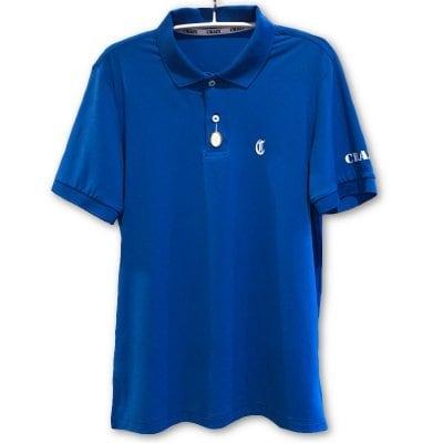CRAZY (クレイジー) ポロシャツ ブルー (カード払不可)