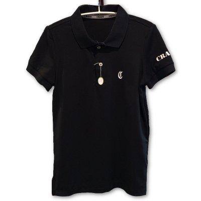 CRAZY (クレイジー) ポロシャツ ブラック (カード払不可)