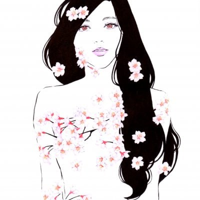 【美人画原画】桜(A4サイズ)
