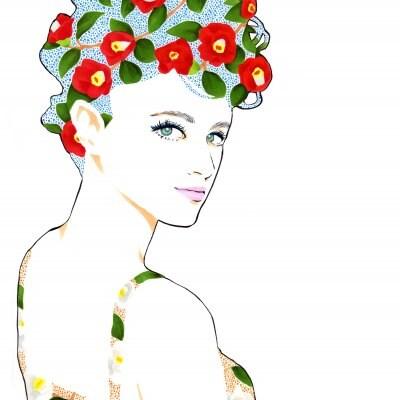 【美人画原画】Camellia(A4サイズ)