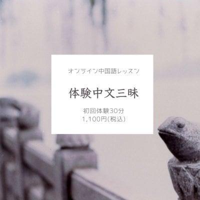 体験「中文三昧」オンライン中国語レッスン