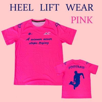ヒールリフトTシャツ ピンク