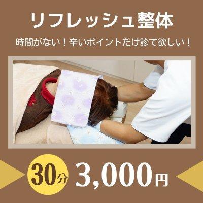 リフレッシュ整体(30分)3,000円【現地払い専用】