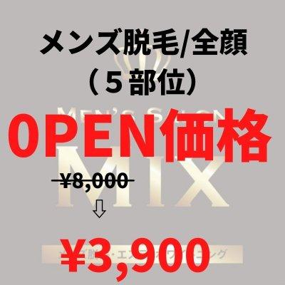 【OPEN価格】メンズ脱毛 全顔(5部位)