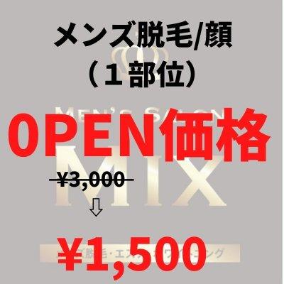 【OPEN価格】メンズ脱毛 全顔(1部位)