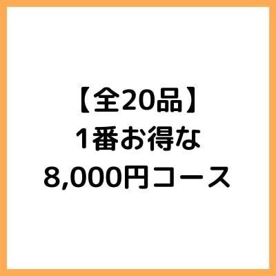 【全20品】1番お得な8,000円コース 全20品の一番お得なコースとなっております。