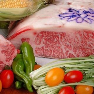 神戸牛ロースステーキと有機野菜のコース