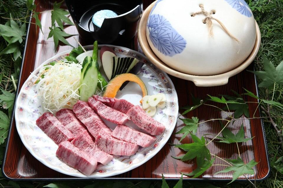 但馬牛ステーキ(約120g)定食