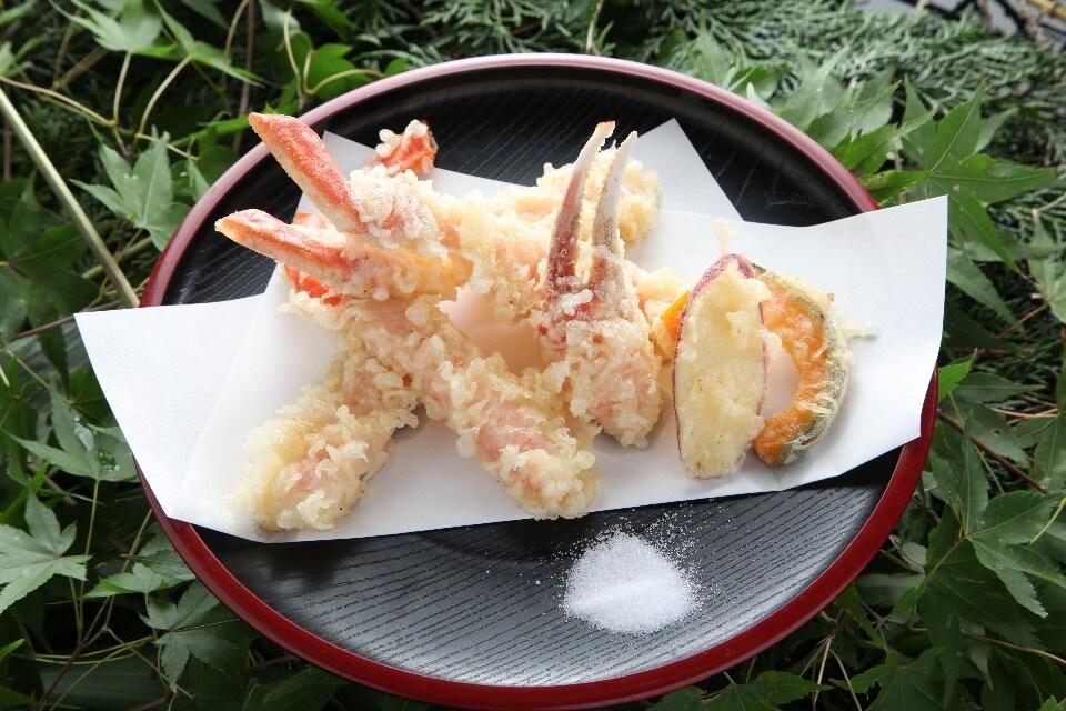 かに天ぷら定食