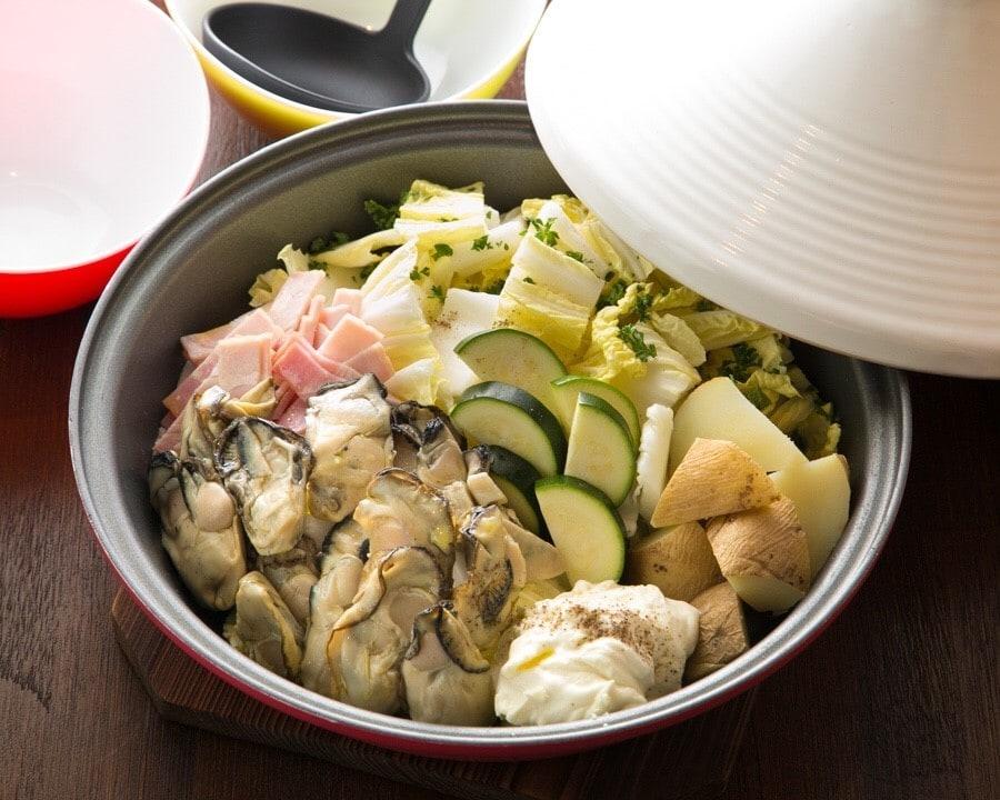 広島産牡蠣のタジン鍋 クリームor味噌一人前(2人前)