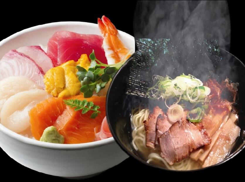 築地海鮮丼&ハーフラーメンセット