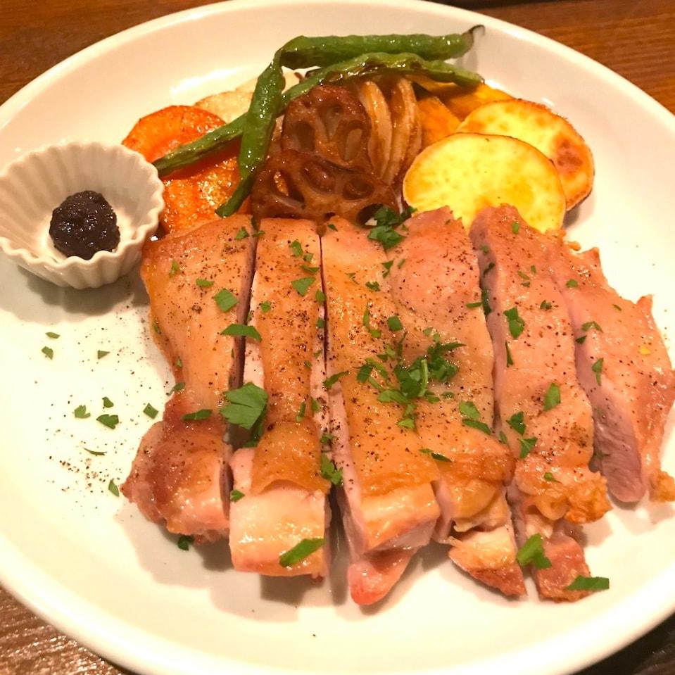 塩麹鶏のロースト(スープ.日替わりDELI.サラダ.玄米つき)