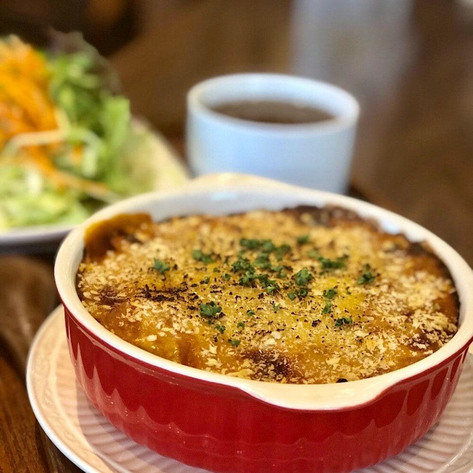 特製ベジチーズのカレーミートドリア(サラダ・スープ付)