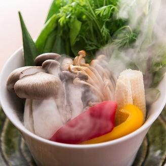 彩り野菜の蒸し焼き又は炙り