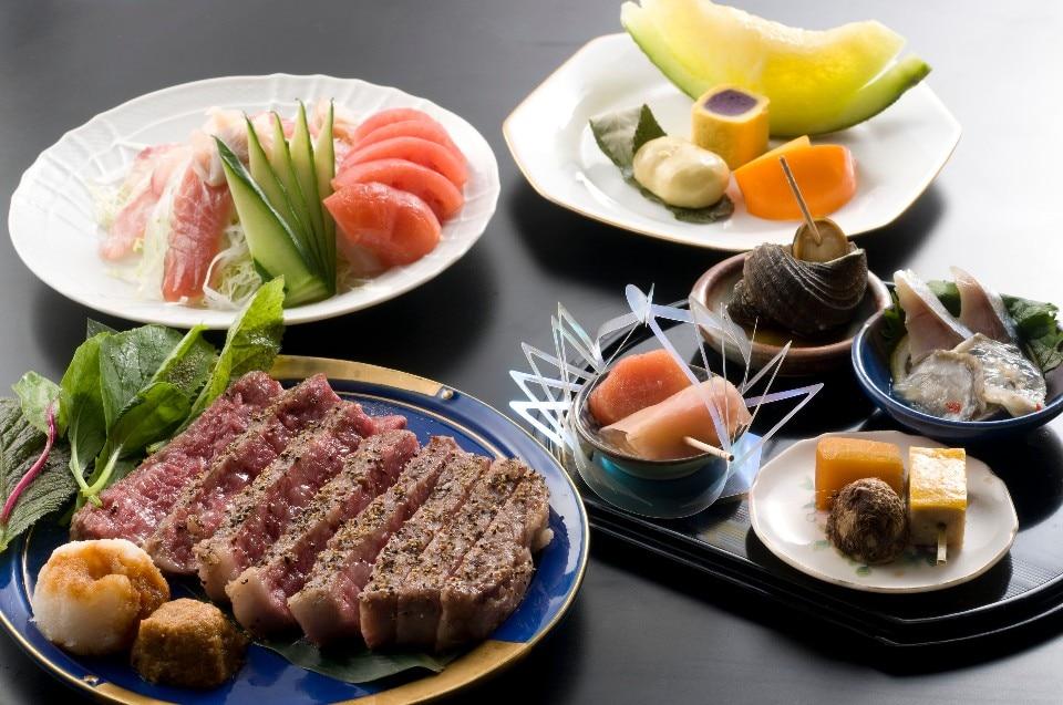 網焼きステーキコース200g