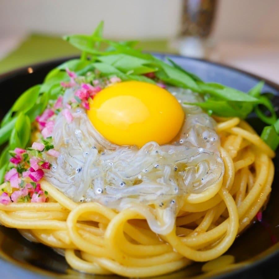 しらすの豊洋丸コラボ!生しらすのスパゲティー