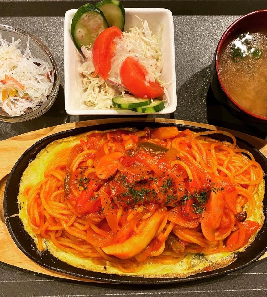 温玉ナポリタンスパゲッティセット