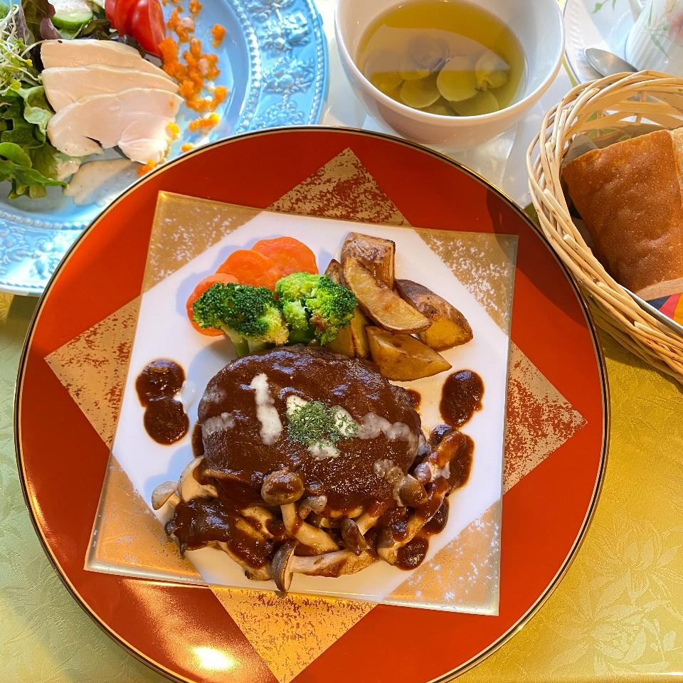 長崎和牛ハンバーグステーキセット