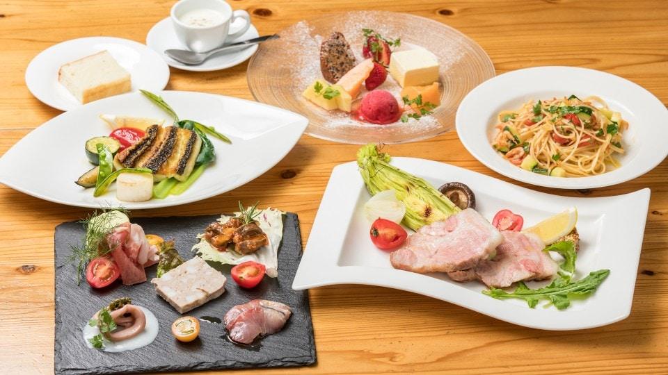フレスコ定番の季節のプリフィックスコース!!旬の食材を使用したシェフ自慢の料理をお楽しみください!