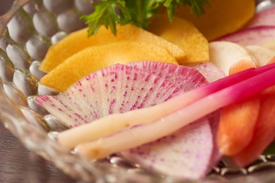 地野菜の漬物盛り合わせ
