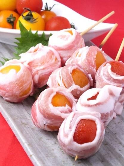 プチトマト豚巻き