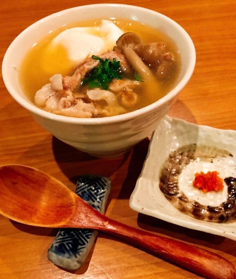 道産豚の肉吸い 豆腐と卵いり