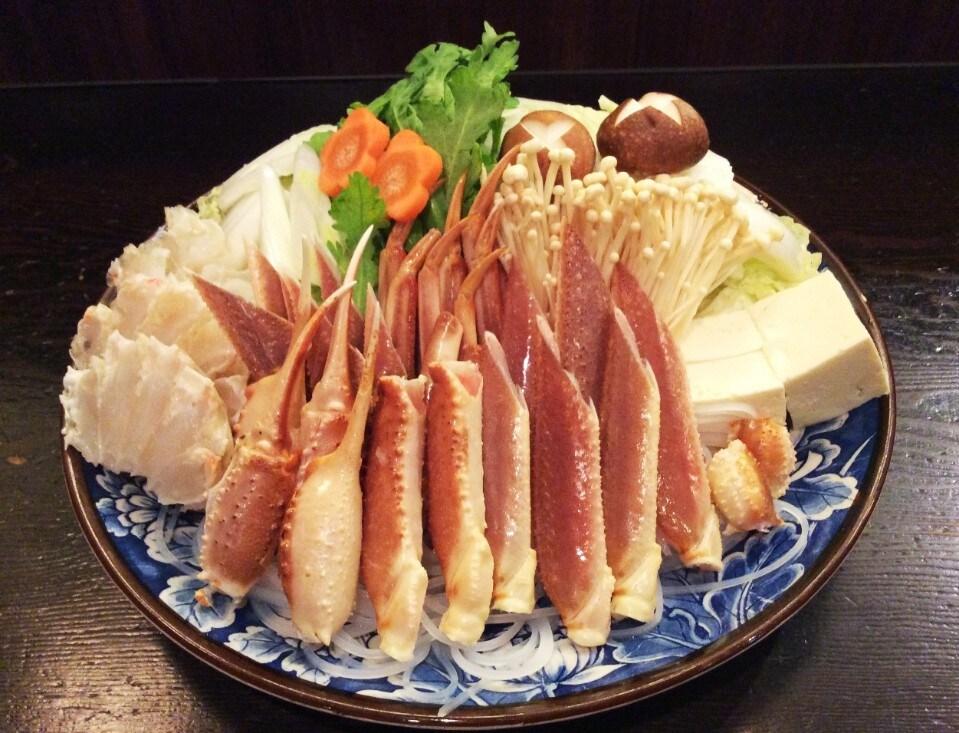 かにすき鍋(皿盛り)