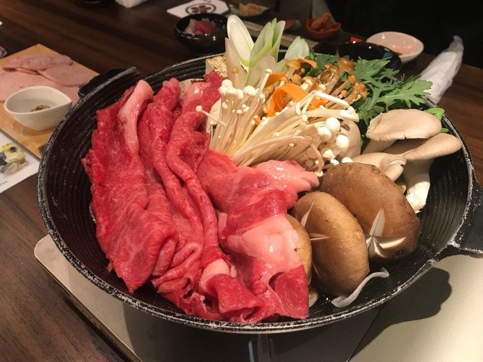 漢方牛すき焼きコース