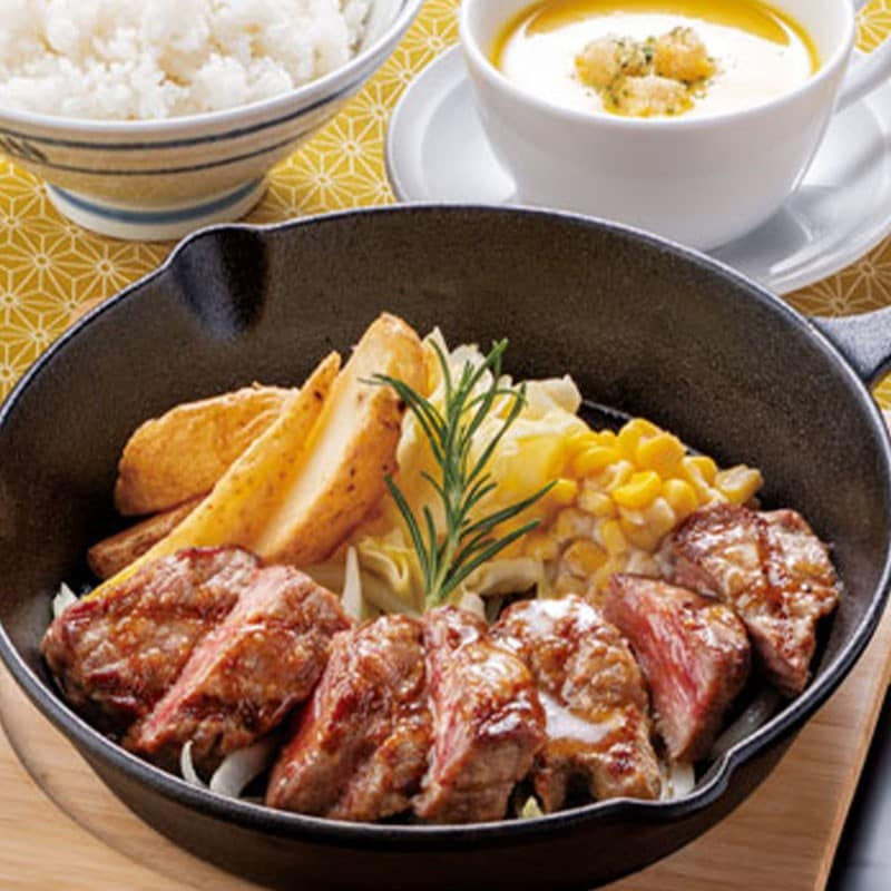 牛ステーキ定食 130g