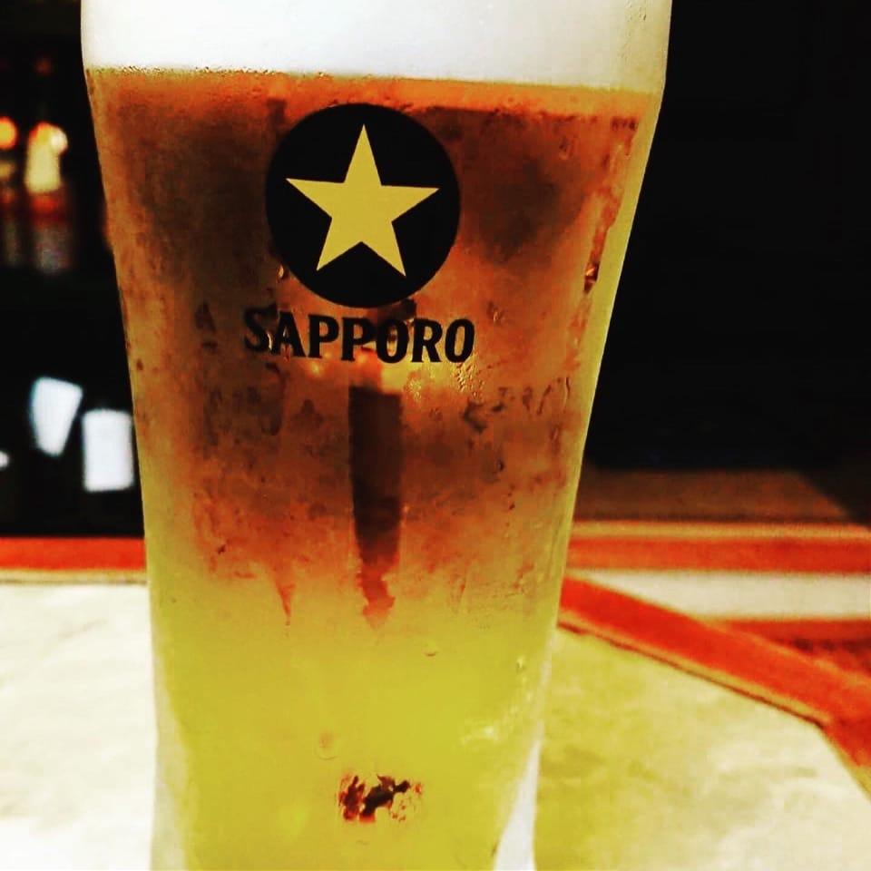泡まで美味い!サッポロ樽生 ビール  ジョッキ
