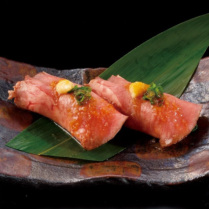 牛たん中とろ炙り寿司(1貫)