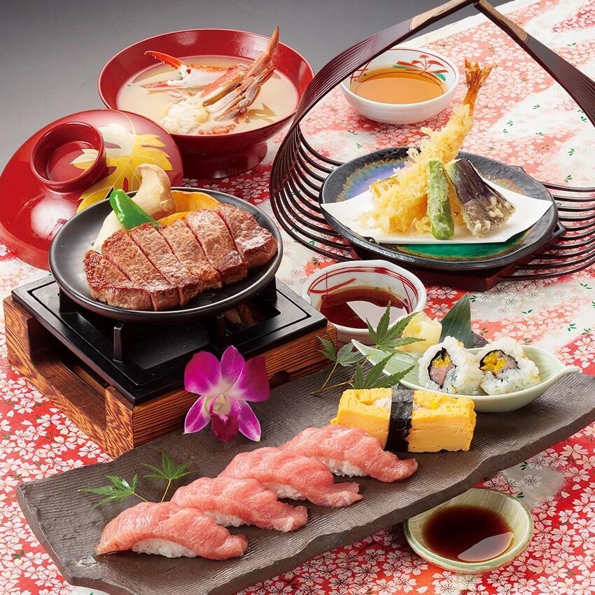 大とろステーキ寿司御膳