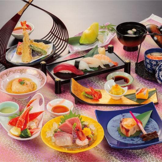 【和風会席 源氏山(げんじやま)】■前菜からデザートまでフルコースでお楽しみいただけるお手軽なコース