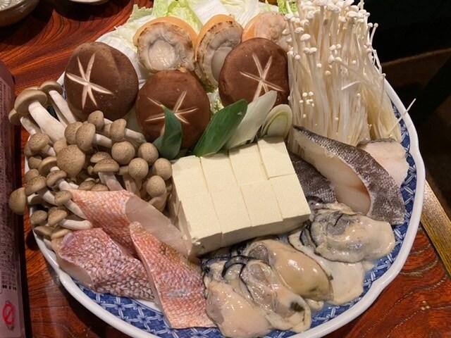 お一人様3000円のおまかせ鍋コース