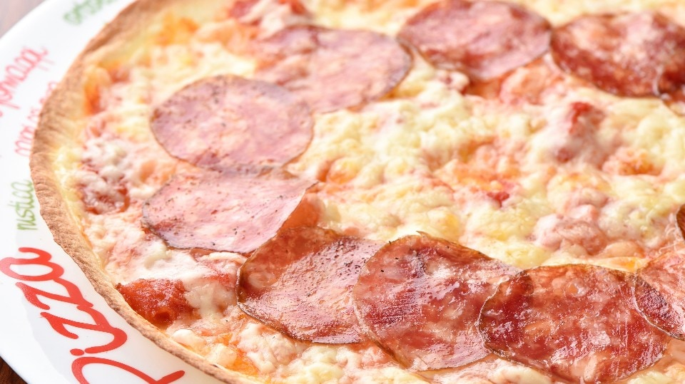 イベリコ豚のサラミのピッツァ
