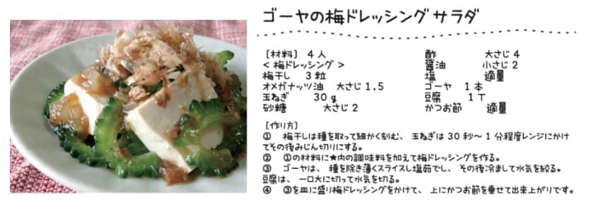 オメガ3オイル・ゴーヤの梅ドレッシングサラダ