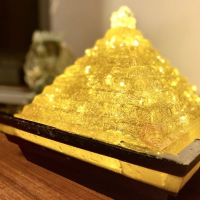 Hiro✡オリジナル オルゴライト®〜Orgolight〜黄金のピラミッドファウンテン【受注販売】