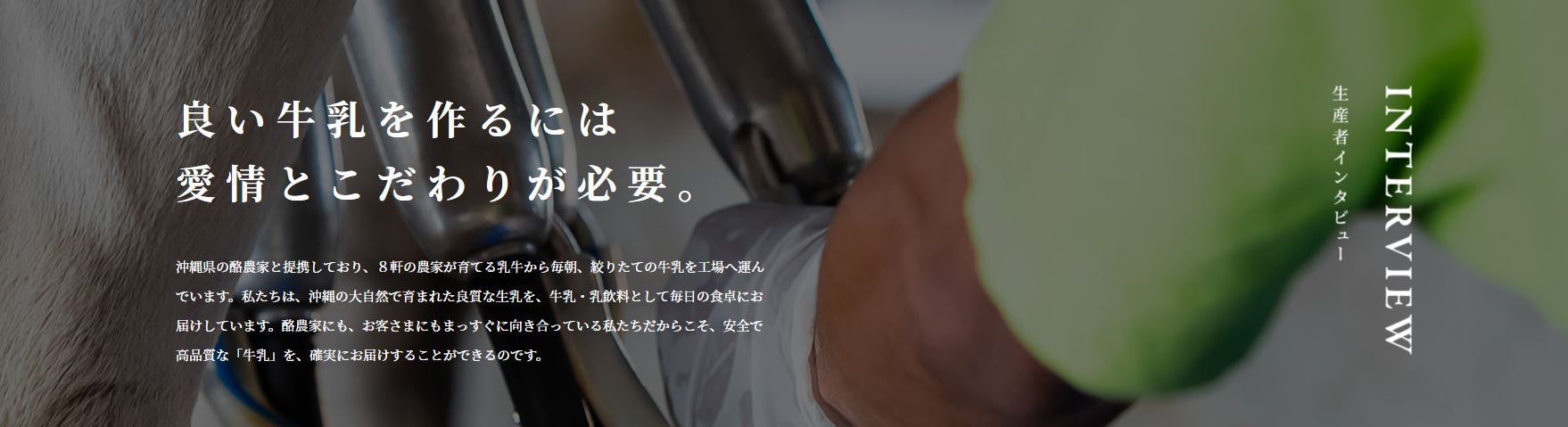 宮平牛乳生産者インタビュー|宮平牛乳を扱った宮平ジェラート(アイスクリーム)の通販オンラインショップ|沖縄宮平グッズ