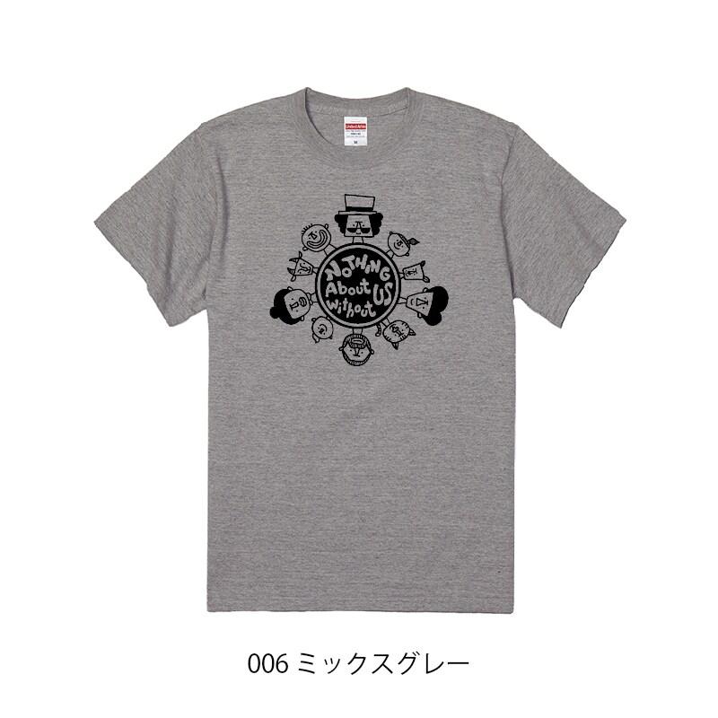 チャリティーTシャツ_ミックスグレー