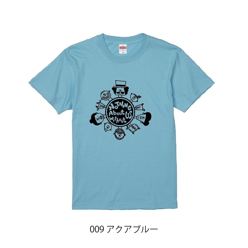 チャリティーTシャツ_アクアブルー