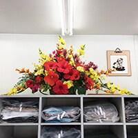 造花 レンタル クリーニング店