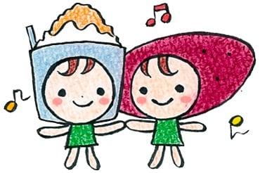 いも子の焼き芋&人力発電かき氷の阿佐美やLineStamp