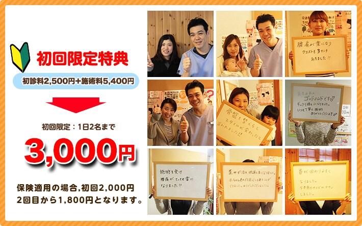 兵庫県神戸市のはた整骨院初回限定