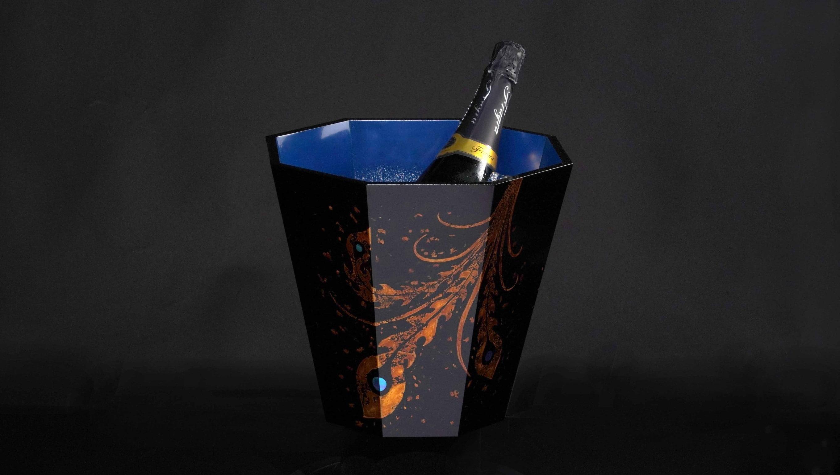 りゅうぎん琉球漆芸技術伝承支援事業|琉球漆器ワインクーラー鳳凰|